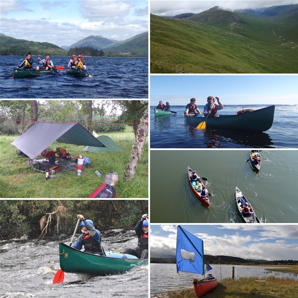 Open Canoeing on the river and Lakes of The UK