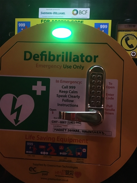 Defibrillator on Site