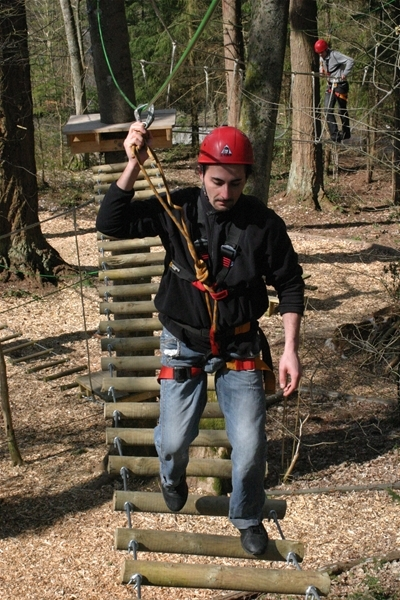 high ropes course, Bala